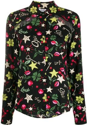 Liu Jo Lucky bead-fringed shirt