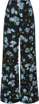Emilia Wickstead Hullinie Floral-Print High-Rise Crepe Pants