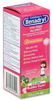 Benadryl Children's 4 oz. Dye-Free Allergy Liquid in Bubble Gum