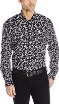 Cinch Men's Classic Fit Long Sleeve Button Down Floral Print Shirt