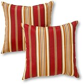 Greendale Home Fashions Indoor/Outdoor Accent Pillows, Roma Stripe, Set of 2