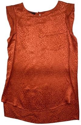 Emporio Armani Orange Silk Top for Women