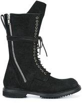 Rick Owens lace-up combat boots