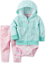 Carter's 3-Pc. Cute Hoodie, Bodysuit & Leggings Set, Baby Girls (0-24 months)