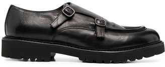 Doucal's Double Buckle Monk Shoes