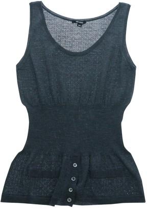 Neil Barrett Grey Wool Top for Women
