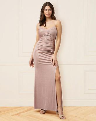 Le Château Sparkle Knit Cowl Neck Gown