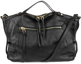 Kooba Blanche Leather Satchel Bag, Black
