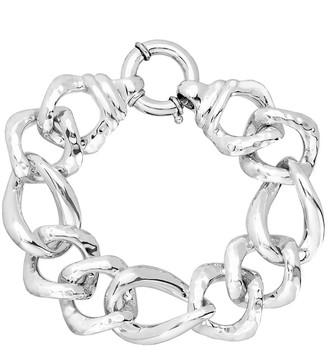 Bliss Women's Bracelets Silver - Sterling Silver Polished Curb Chain Bracelet