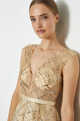 Coast Full Skirted Bardot Maxi Dress