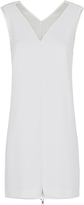 Oxford Lea Silk Trim Tunic Dress Ivory X