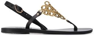 Ancient Greek Sandals Chain Mail Strappy Sandals