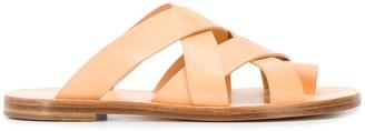 Jil Sander Cross-Strap Flat Sandals