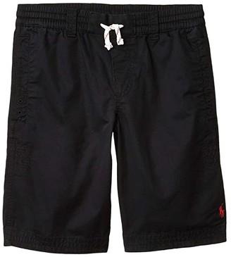 Polo Ralph Lauren Kids Cotton Twill Shorts (Big Kids) (Polo Black) Boy's Shorts