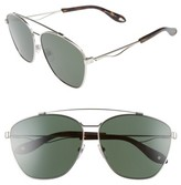 Givenchy Men's 65Mm Navigator Sunglasses - Palladium