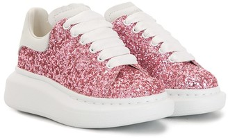 ALEXANDER MCQUEEN KIDS Oversized Lace-Up Sneakers