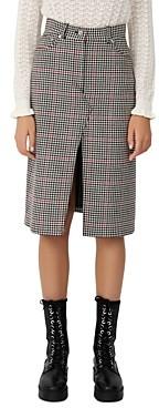 Maje Joldita Houndstooth Pencil Skirt