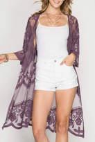 She + Sky Lace Kimono