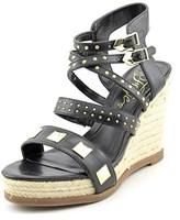 Fergie Averie Open Toe Synthetic Wedge Sandal.