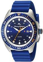 Tommy Bahama Men's Quartz Stainless Steel and Silicone Casual Watch, Color:Blue (Model: TB00006-01)