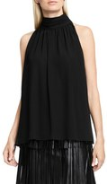 Vince Camuto Women's Shirred Neck Halter Blouse