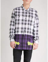 Off-White Tape-detailed regular-fit cotton-blend shirt