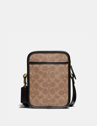 Coach Zip Camera Bag In Signature Canvas