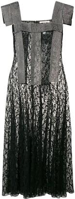 Christopher Kane crystal lace panelled dress