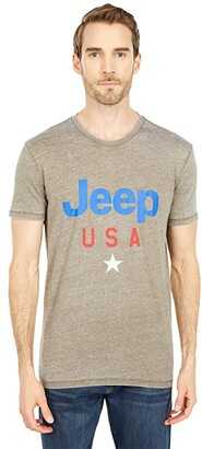 Lucky Brand Jeep USA Star T-Shirt (Dark Olive) Men's Clothing