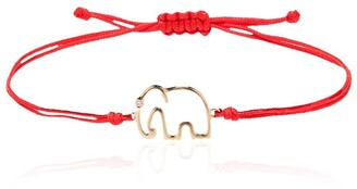 Yvonne Léon 9kt gold and diamond Elephant bracelet