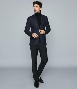 Reiss Sommelier - Wool Slim Fit Textured Blazer in Navy