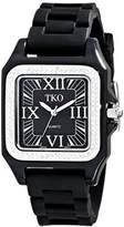 Swarovski TKO ORLOGI Women's TK541-BK Riviera Ice Black Plastic Case with Crystals Watch