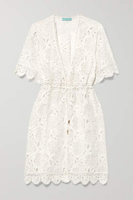 Melissa Odabash Barrie Cotton-blend Corded Lace Mini Dress - White