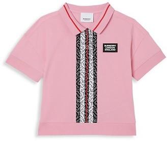 Burberry Little Girl's & Girl's Rebecca Monogram Polo Shirt