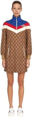 Gucci Gg Supreme Sweatshirt Dress