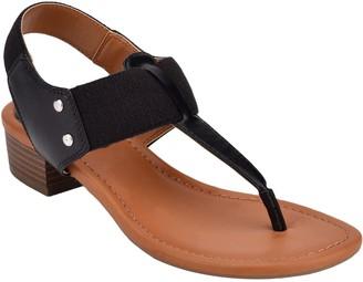 Bandolino Pull On Block Heel Thong Sandals - Karly