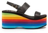 ESXRD Copa leather wedge sandals