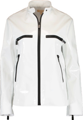 Michael Kors Zippered Leather Surf Jacket