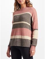 360 Sweater Abigail Stripe Cashmere Jumper, Sienna Multi