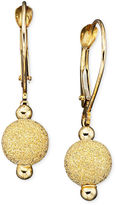 10k Gold Earrings, Laser Cut Bead