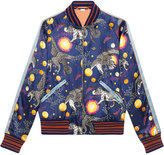 Gucci Space Animals print bomber jacket - men - Silk/Polyester/Viscose/Alpaca - 44