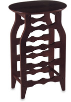 Bed Bath & Beyond Espresso Oval Top Wine Rack