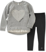 Calvin Klein 2-Pc. Tunic & Leggings Set, Little Girls (4-6X)