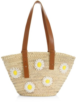 Poolside The Essaouira Daisy Straw Tote