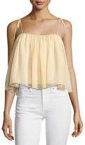 Elizabeth and James Taura Tie-Shoulder Crop Top
