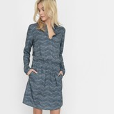 La Redoute Collections Printed Dress with Shirt Collar