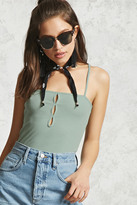 Forever 21 FOREVER 21+ Ribbed Cutout Cami