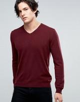 Benetton 100% Merino Wool V Neck Sweater