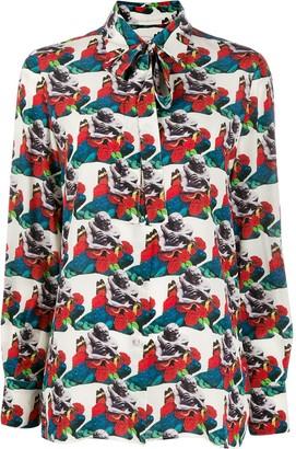 Valentino x Undercover graphic print shirt