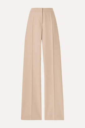 Max Mara Obbia Camel Hair And Cashmere-blend Straight-leg Pants - Beige